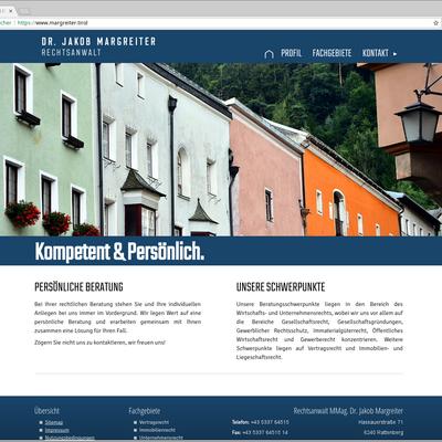 Startseite in Desktop-Ansicht